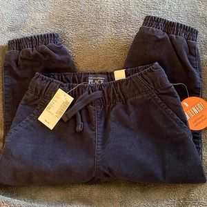Children's Place Lined Corduroy Navy Blue Pants